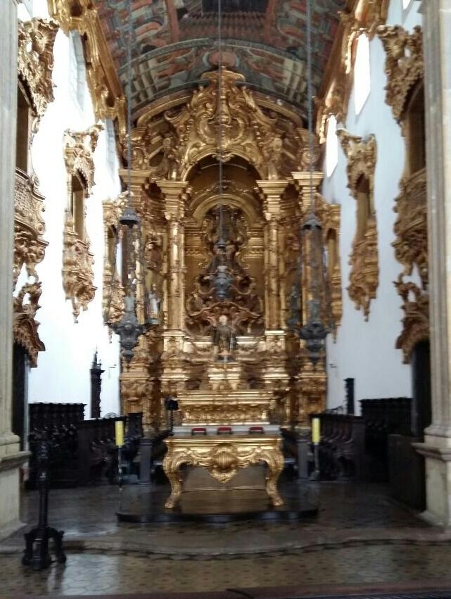 Altar talhado em Ouro - Igreja do Mosteiro de São Bento - Olinda