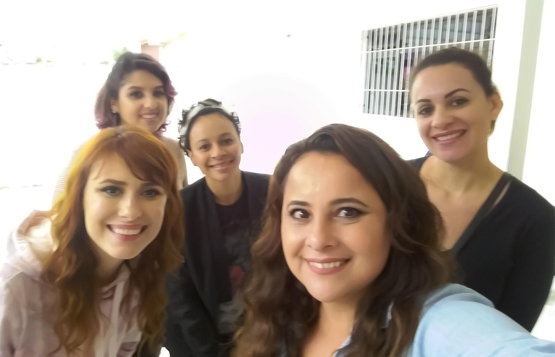 Juliana, Flávia, Camila, Suzani e eu